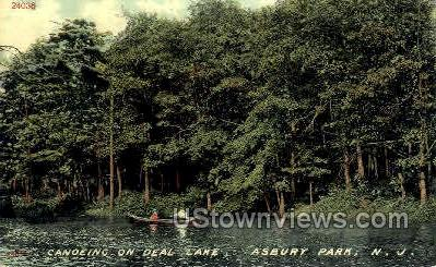 Deal Lake - Asbury Park, New Jersey NJ Postcard