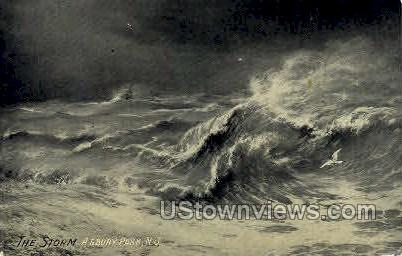 The Storm - Asbury Park, New Jersey NJ Postcard