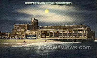 Covention Hall - Asbury Park, New Jersey NJ Postcard
