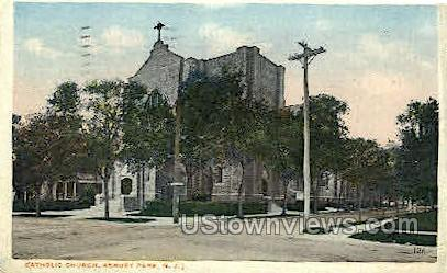 Catholic Church - Asbury Park, New Jersey NJ Postcard