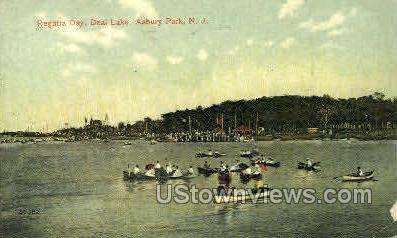 Regatta Day, Deal Lake - Asbury Park, New Jersey NJ Postcard