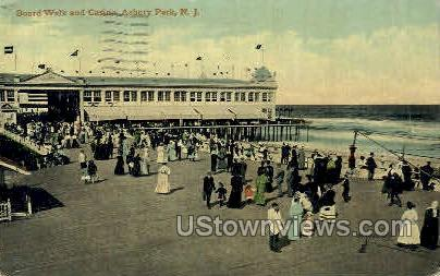Boardwalk & Casino - Asbury Park, New Jersey NJ Postcard