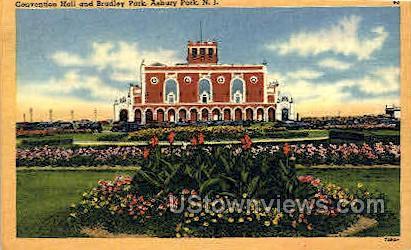 Convention Hall, Bradley Park - Asbury Park, New Jersey NJ Postcard