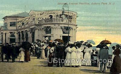 Seventh Ave Pavilion - Asbury Park, New Jersey NJ Postcard