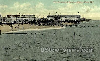 Beach & Arcade - Asbury Park, New Jersey NJ Postcard