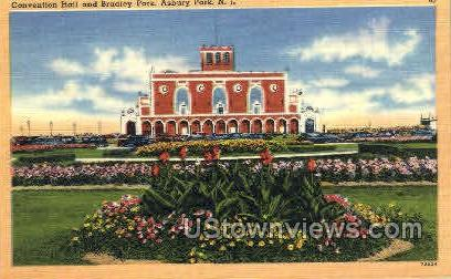Convention Hall, Bradley Park - Asbury Park, New Jersey NJ Postcard