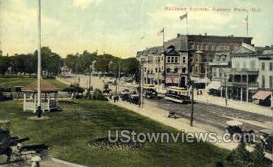 Railroad Square - Asbury Park, New Jersey NJ Postcard