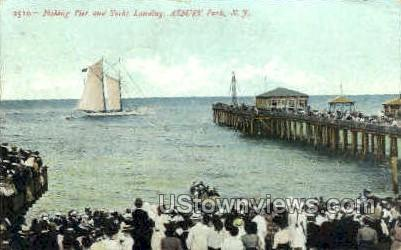 Fishing Pier - Asbury Park, New Jersey NJ Postcard