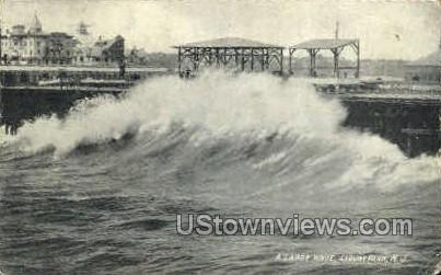Large Wave - Asbury Park, New Jersey NJ Postcard
