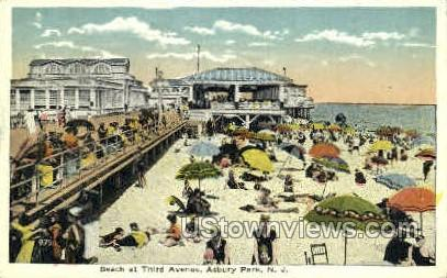 Thrid Ave. - Asbury Park, New Jersey NJ Postcard