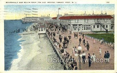 Boardwalk, 7th Ave. - Asbury Park, New Jersey NJ Postcard
