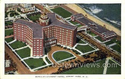 Berkeley Carteret Hotel - Asbury Park, New Jersey NJ Postcard
