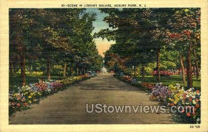 Library Square - Asbury Park, New Jersey NJ Postcard
