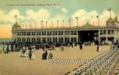 Casino & Boardwalk - Asbury Park, New Jersey NJ Postcard