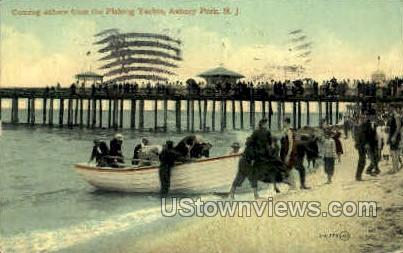 Fishing Yachts - Asbury Park, New Jersey NJ Postcard
