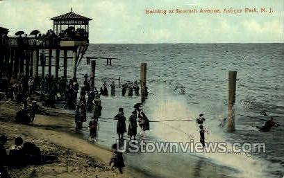 Seventh Ave. - Asbury Park, New Jersey NJ Postcard