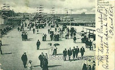 Boardwalk Promenaders - Asbury Park, New Jersey NJ Postcard