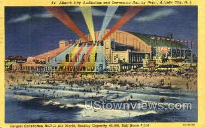 Atlantic City Auditorium & Convention Hall - New Jersey NJ Postcard