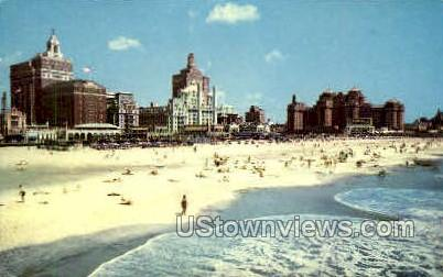 Beach - Atlantic City, New Jersey NJ Postcard