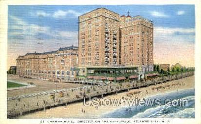 St. Charles Hotel - Atlantic City, New Jersey NJ Postcard
