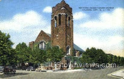 First Presbyterian Church - Atlantic City, New Jersey NJ Postcard