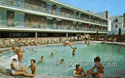 Colton Manor Hotel Motel - Atlantic City, New Jersey NJ Postcard