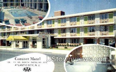Coronet Motel - Atlantic City, New Jersey NJ Postcard