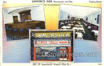 Dragon's Den Restaurant & Bar - Atlantic City, New Jersey NJ Postcard