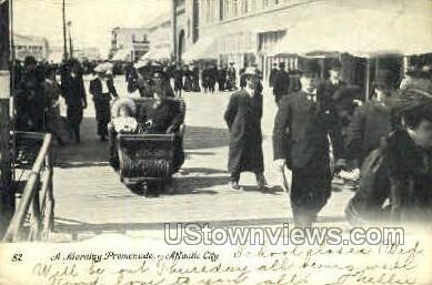 Morning Promenade - Atlantic City, New Jersey NJ Postcard