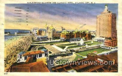 Marlborough Blenheim & Claridge Hotel - Atlantic City, New Jersey NJ Postcard
