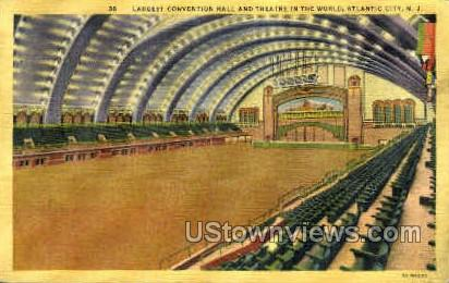 Convention Hall - Atlantic City, New Jersey NJ Postcard