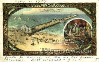 Heinz Ocean Pier - Atlantic City, New Jersey NJ Postcard