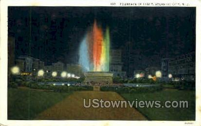 Fountain of Light - Atlantic City, New Jersey NJ Postcard
