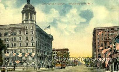 Atlantic Ave. - Atlantic City, New Jersey NJ Postcard