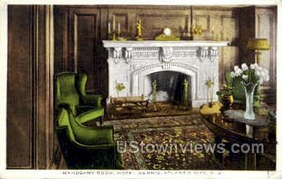 Mahogany Room, Hotel Dennis - Atlantic City, New Jersey NJ Postcard