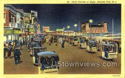 Chair Parade - Atlantic City, New Jersey NJ Postcard