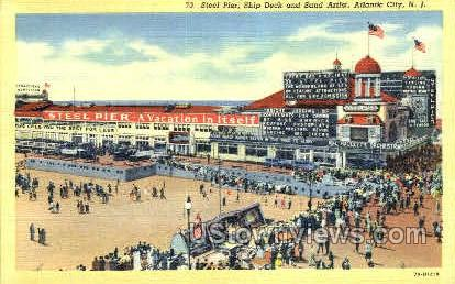 Steel Pier - Atlantic City, New Jersey NJ Postcard