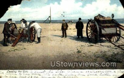 Loading the Gun - Atlantic City, New Jersey NJ Postcard