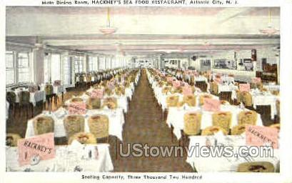 Hackney's Sea Food Restaurant - Atlantic City, New Jersey NJ Postcard