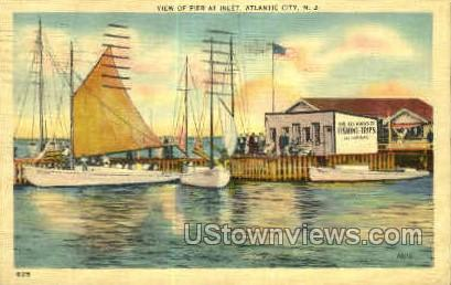 Pier at Inlet - Atlantic City, New Jersey NJ Postcard