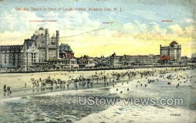 Large Hotels - Atlantic City, New Jersey NJ Postcard