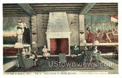 St. Denis Room, Hotel Dennis - Atlantic City, New Jersey NJ Postcard