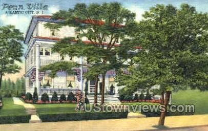 Penn Villa - Atlantic City, New Jersey NJ Postcard