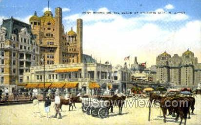 Pony Riding - Atlantic City, New Jersey NJ Postcard
