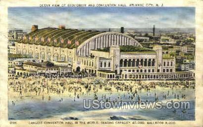 Auditorium & Convention Hall - Atlantic City, New Jersey NJ Postcard