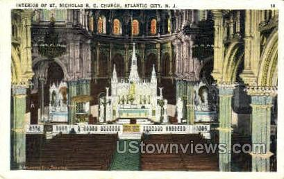 St. Nicholas Roman Catholic Church - Atlantic City, New Jersey NJ Postcard