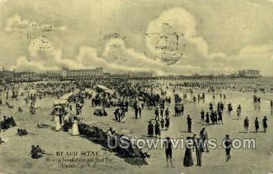 Beach, Steel Pier - Atlantic City, New Jersey NJ Postcard