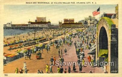 Million Dollar Pier - Atlantic City, New Jersey NJ Postcard