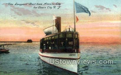 The Longport Boat - Atlantic City, New Jersey NJ Postcard