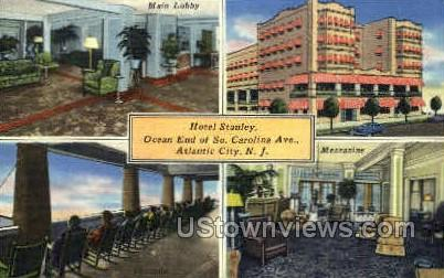 Hotel Stanley - Atlantic City, New Jersey NJ Postcard